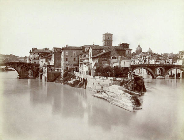 Tiber Island Wall Art - Photograph - Tiber Island And San Bartolomeo, Fratelli Alinari by Quint Lox