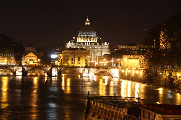 Tiber Night Art Print
