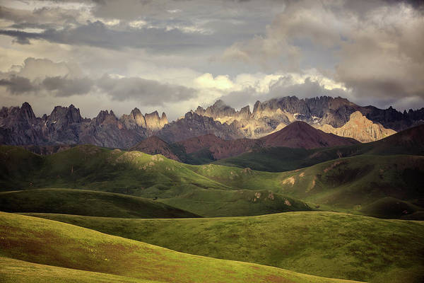 Layers Wall Art - Photograph - Tibetan Plateau by James Yu