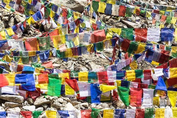Photograph - Tibetan Prayer Flags by Didier Marti