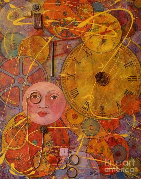 Clock Face Painting - Tic Toc by Jane Chesnut