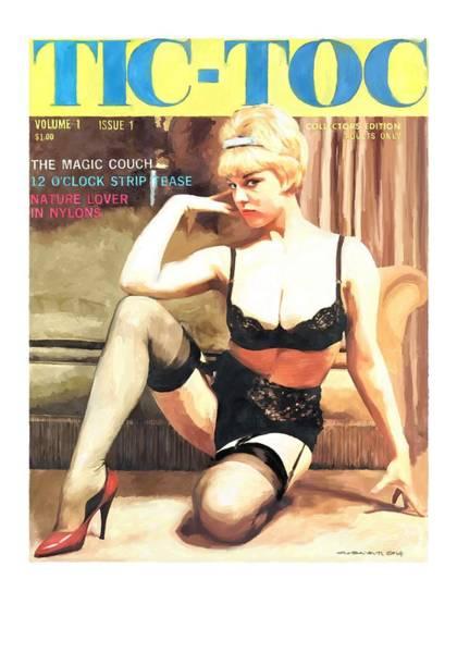 Digital Art - Tic-toc - Vintage Magazine Covers Series by Gabriel T Toro