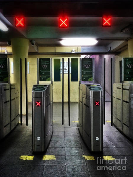 Stop Light Photograph - Ticket Gates by Carlos Caetano