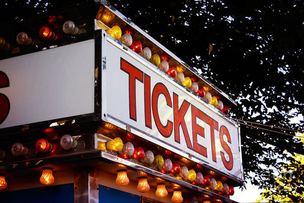 Photograph - Tickets by Cindy Garber Iverson