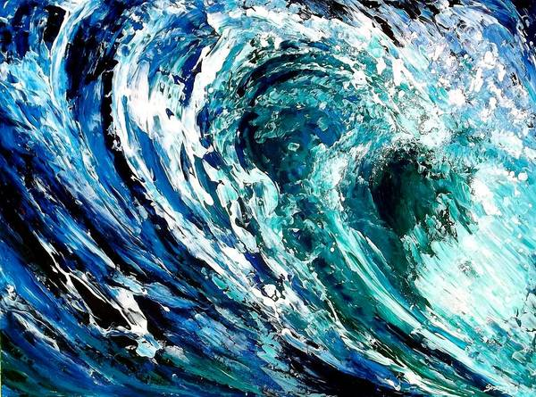 Bodyboard Wall Art - Painting - Tidal Wave by Suzanne King