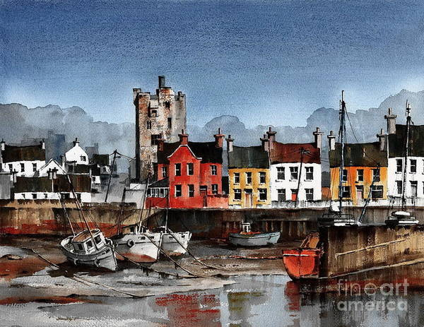 Painting - Wexford Tide Out In Ballyhack by Val Byrne