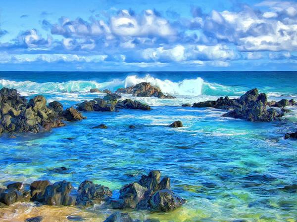 Kona Painting - Tide Pool Near Hana Maui by Dominic Piperata