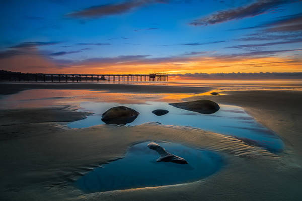 Reef Photograph - Tide Pool Reflections At Scripps Pier by Larry Marshall