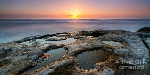 Reverse Wall Art - Photograph - Tide Pool Sunset 16x8 Crop  by Michael Ver Sprill