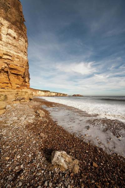 Foaming Wall Art - Photograph - Tide Rushing On To The Shore  South by John Short
