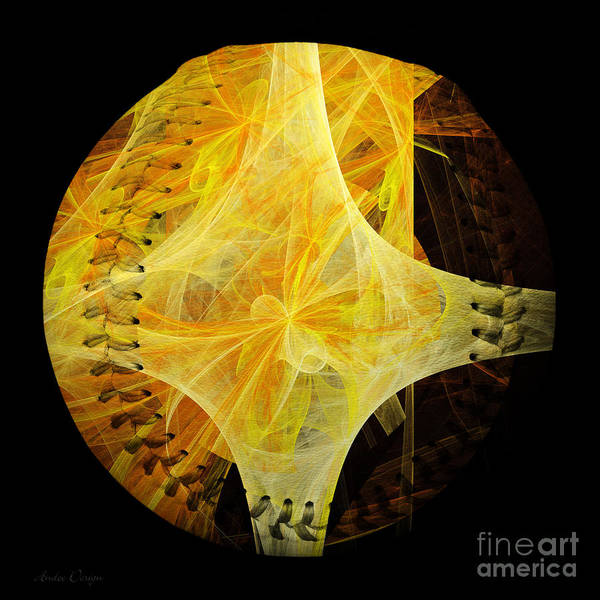 Digital Art - Tie A Yellow Ribbon Baseball Square by Andee Design