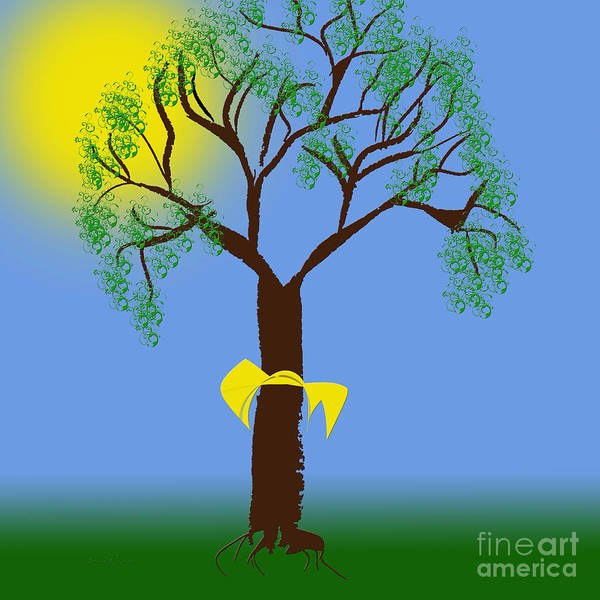 Digital Art - Tie A Yellow Ribbon Round The Ole Oak Tree by Andee Design