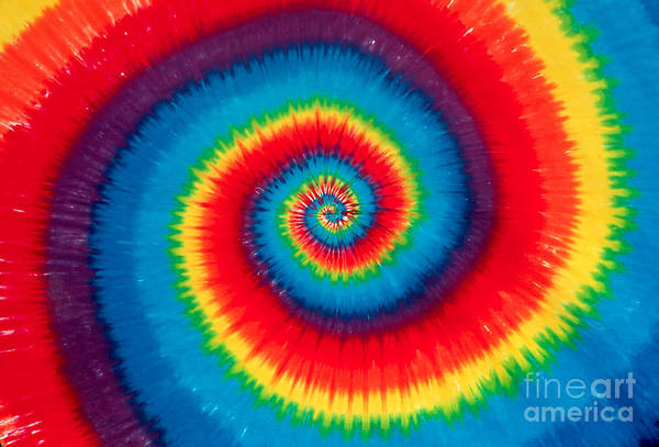 Greatful Dead Photograph - Tie Dye by Anthony Sacco