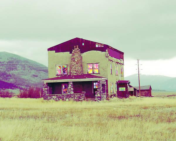 Mlk Digital Art - Tie Dye House Colorado by JG Whitney
