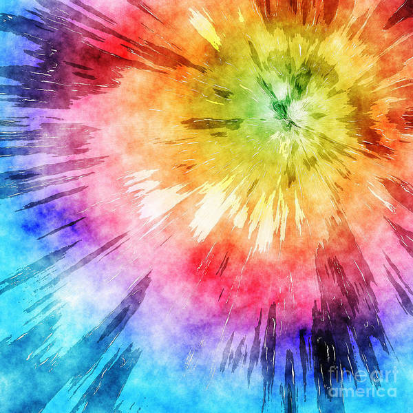 Tie Dye Watercolor Art Print