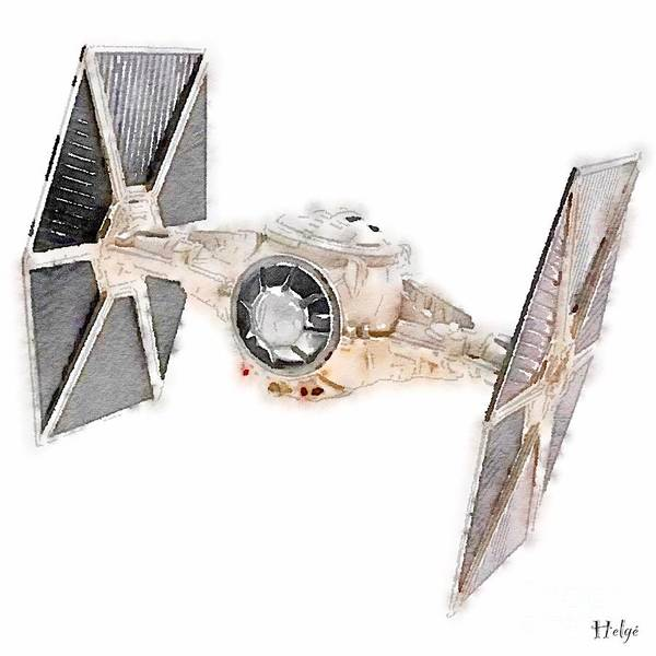 Painting - Tie Fighter by Helge