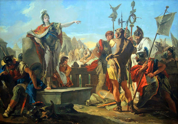 Addressing Photograph - Tiepolo's Queen Zenobia Addressing Her Soldiers by Cora Wandel