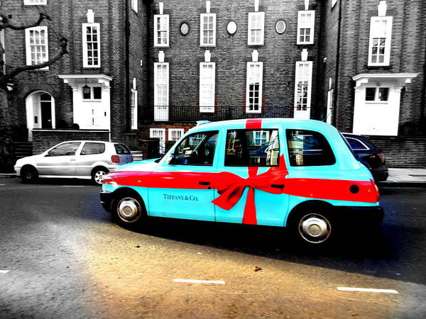 Wall Art - Photograph - Tiffany Blue Box Cab In London by Funkpix Photo Hunter
