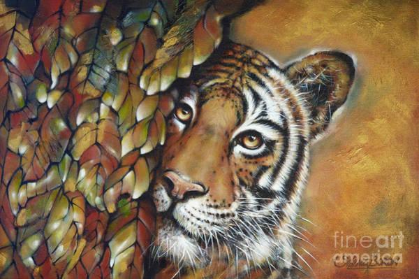 Painting - Tiger 300711 by Selena Boron