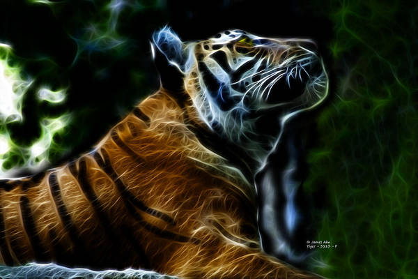 Digital Art - Tiger 3513 - F by James Ahn