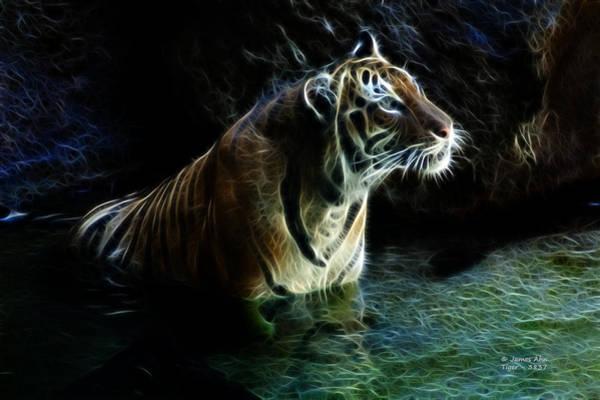 Digital Art - Tiger 3837 - F by James Ahn