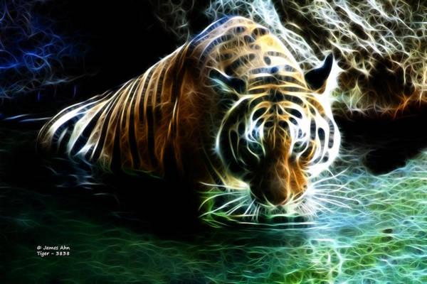 Digital Art - Tiger 3838 - F by James Ahn