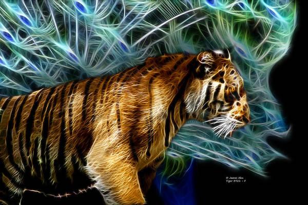 Digital Art - Tiger 3921 - F by James Ahn