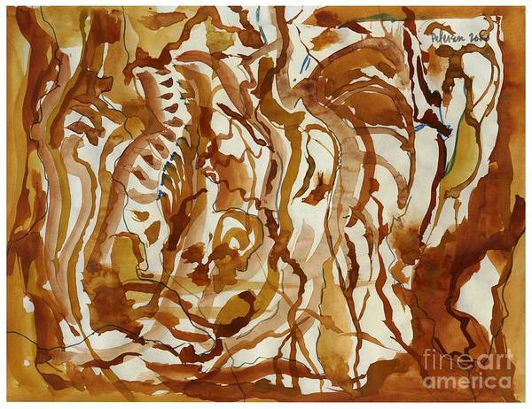Utilitarian Painting - Tiger Chaos  by Cathy Peterson
