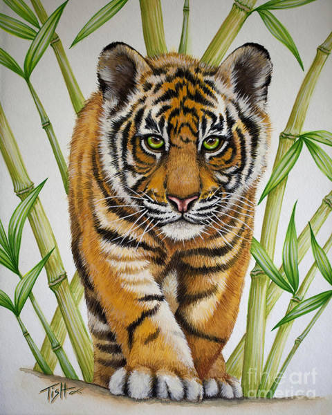 Painting - Tiger Cub by Tish Wynne