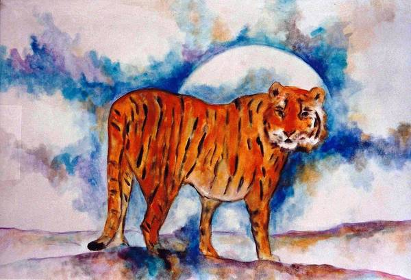Frederick Morris Painting - Tiger by Lord Frederick Lyle Morris - Disabled Veteran