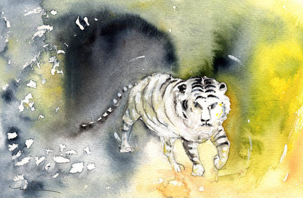 Painting - Tiger In Crocodile Park In Gran Canaria 01 by Miki De Goodaboom
