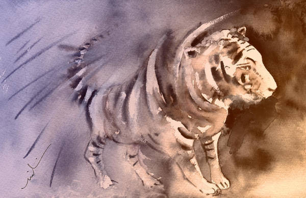 Painting - Tiger In Crocodile Park In Gran Canaria 02 by Miki De Goodaboom