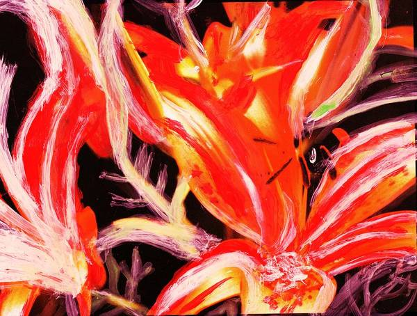 Tigerlily Wall Art - Painting - Tiger Lily Gone Wild by Anne-Elizabeth Whiteway