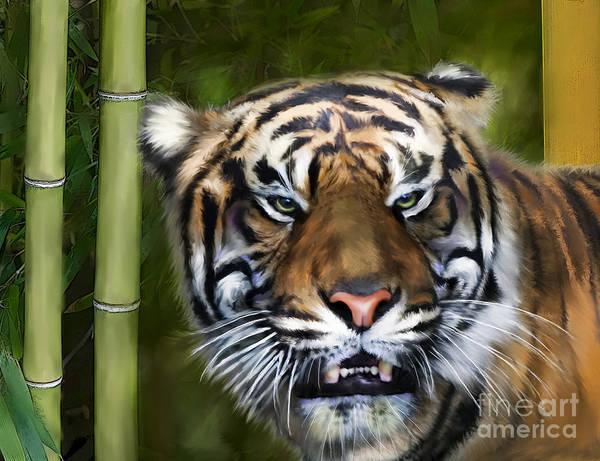 Digital Art - Tiger by Lisa Redfern
