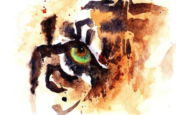 Eyeballs Painting - Tiger by Max Good