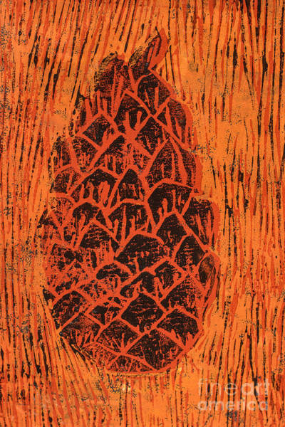 Colour Mixed Media - Tiger Pine Cone by Amanda Elwell