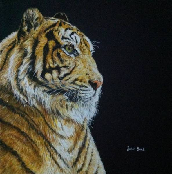 Tigger Wall Art - Painting - Tiger Portrait by Pet Portraits by Julie Bunt