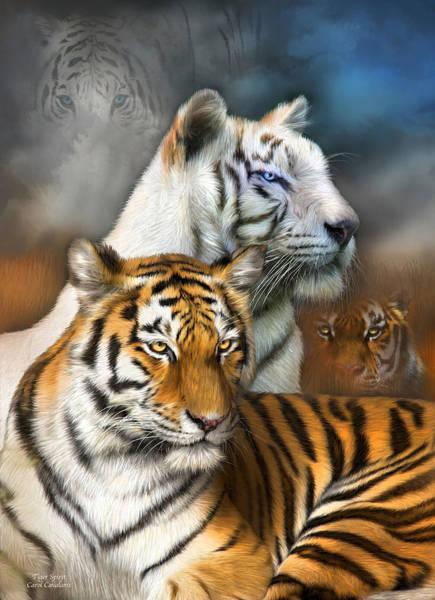 Mixed Media - Tiger Spirit by Carol Cavalaris