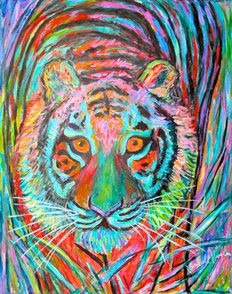 Painting - Tiger Stare by Kendall Kessler