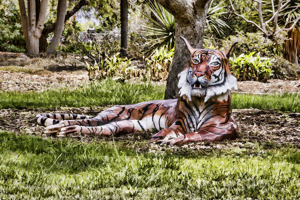 Digital Art - Tiger Statue  by Photographic Art by Russel Ray Photos