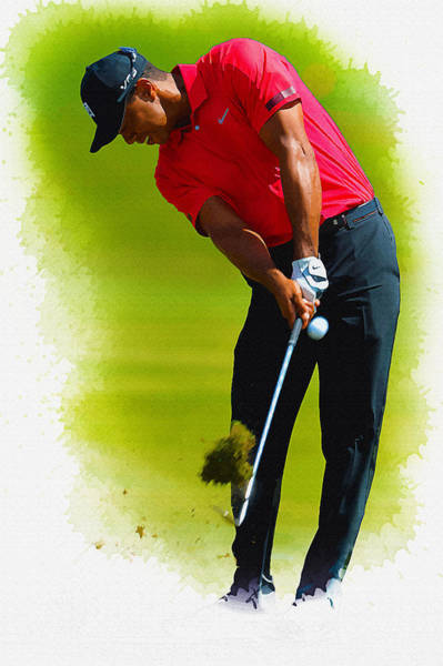 British Open Digital Art - Tiger Woods - The Honda Classic by Don Kuing
