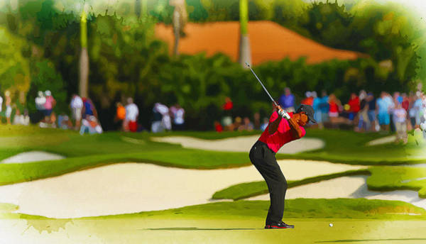 British Open Digital Art - Tiger Woods - The World Golf Championships-cadillac Championship by Don Kuing