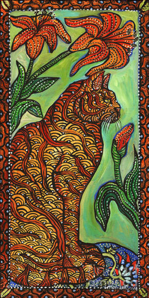 Tigerlily Wall Art - Painting - Tigerlily by Melissa Cole