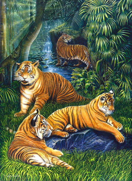 Painting - Tigers by JQ Licensing