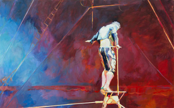 Stop Light Painting - Tightrope Artist by Anke Classen