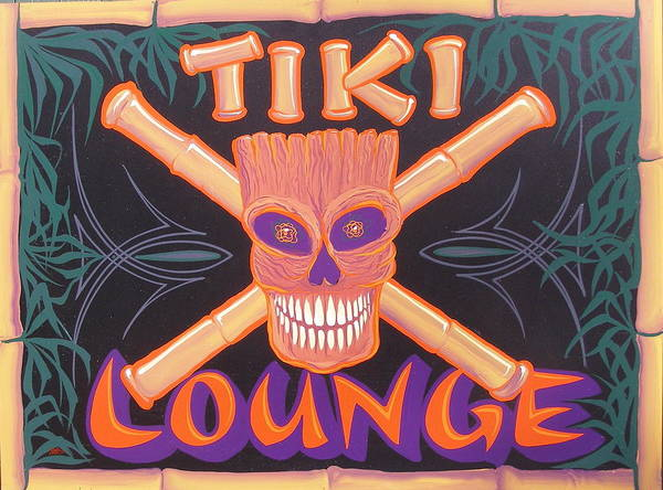 Painting - Tiki Lounge by Alan Johnson