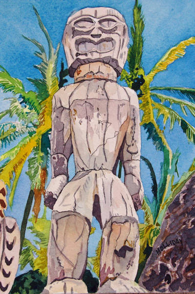 Painting - Tiki by Terry Holliday
