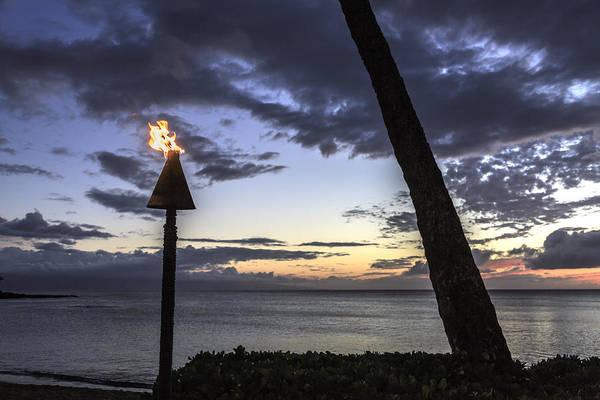 Napili Bay Photograph - Tiki Torch Sunset by Charlie Osborn