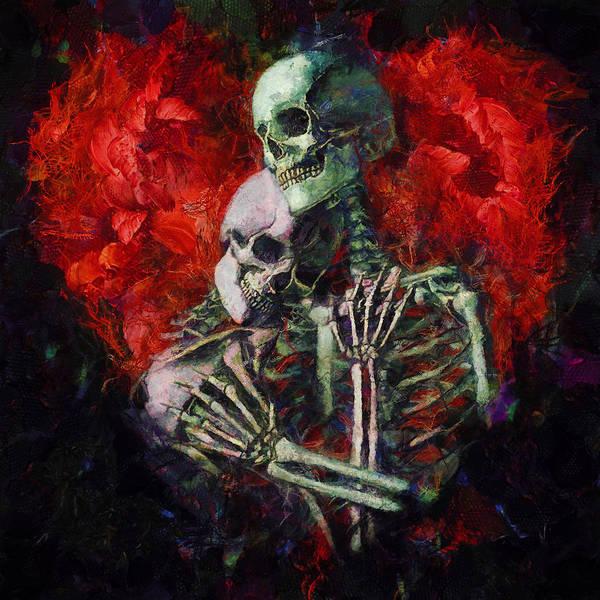 Oil Pastel Painting - Til Death by Christopher Lane