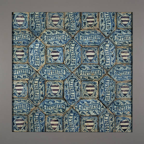 Tile Drawing - Tile Floor Unknown Manises Probably, Valencia Region by Litz Collection